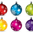 Stock Vector: Bright christmas decorations