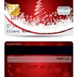 Christmas credit card design — Stock Vector