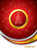 Red christmas brochure — Stock Vector