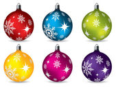 Bright christmas decorations — Stock Vector