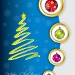 Cool christmas greeting design — Stock Vector