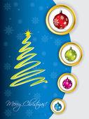 Cool christmas greeting design — Stock Vector