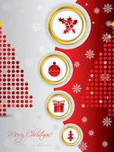Cool christmas card design — Stock Vector