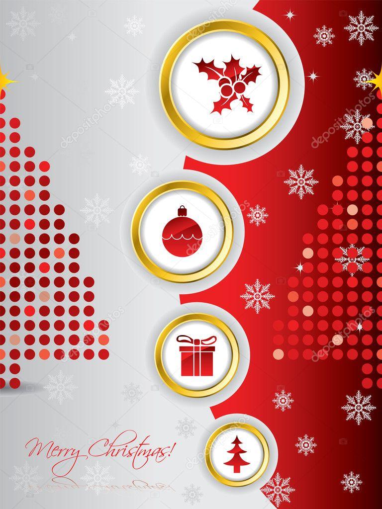 Cool christmas card design stock vector vipervxw 4170882 for Cool xmas cards
