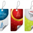 Christmas design label set — Imagen vectorial