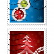 Royalty-Free Stock Vector Image: Christmas postal stamps