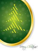 Green christmas greeting card — Stock Vector