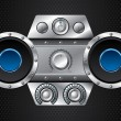 Hi fi set with speakers — Imagen vectorial