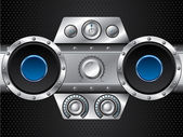 Hi fi set with speakers — Vector de stock