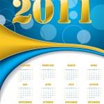 Dotted golden calendar — Stock Vector