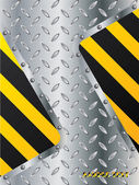 Metallic plate with striped elements — Stockvector