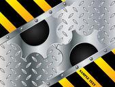 Metallische zahnrad-design — Stockvektor