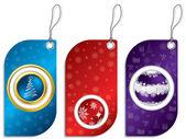 Christmas label set — Stock Vector