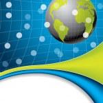 Globe brochure design — Stock Vector