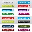Download button styles christmas edition — Image vectorielle