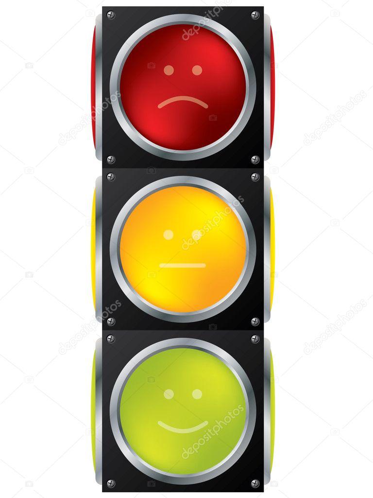 Smiley traffic light design — Stock Vector © vipervxw #4394699