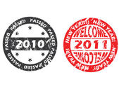 Old and new year seals — Stock Vector