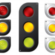 Stock Vector: Various traffic light designs
