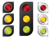 Various traffic light designs — Stock Vector