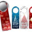 Christmas design privacy labels - Stock Vector