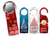 Christmas design privacy labels — Stock Vector