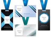 Name tag designs — Stock Vector