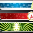 Various christmas banner set — Stock Vector