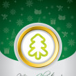 Royalty-Free Stock Vectorafbeeldingen: Green christmas greeting card