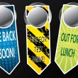 Stock Vector: Door hanger messages