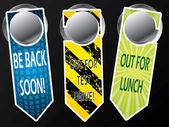 Door hanger messages — Stockvector