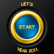 2011 start button — Stock Vector