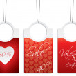 Stock Vector: Valentine day sale labels