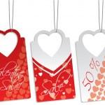 Heart shape label set — Stock Vector