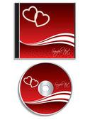 Valentine dag cd cover ontwerp — Stockvector