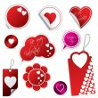 Valentine's day stickers and labels — Stockvectorbeeld