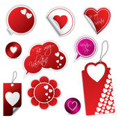 Valentine's day stickers and labels — Stock Vector