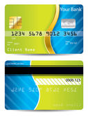 Cool blue and green design credit card — Stock Vector