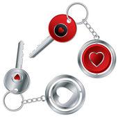 Valentine keyholder design — Stock Vector