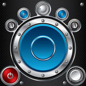 Hi fi set with speaker — Vector de stock