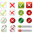 Tick and cross stickers, buttons, and symbols — Stockvector #4719506