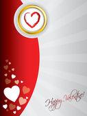 Nuevo diseño de la tarjeta de felicitación de san valentín — Vector de stock