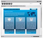 金属的 web 浏览器设计的网页 — 图库矢量图片