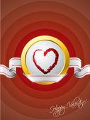 Лента Валентина поздравительных открыток — Cтоковый вектор