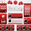 Stock Vector: Dating website template for valentine's day