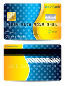 Cool blue and orange credit card — Stock Vector