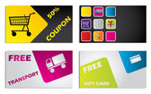Discount card design set — Stock Vector