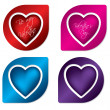 Heart label design set — Stock Vector
