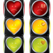 Love traffic lights - 图库矢量图片