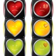 Love traffic lights - Image vectorielle