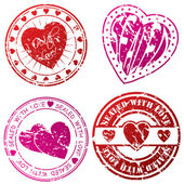 Love stamps for love letters — Stock vektor